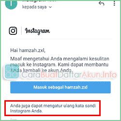 lupa kata sandi Instagram tanpa email dan nomor hp