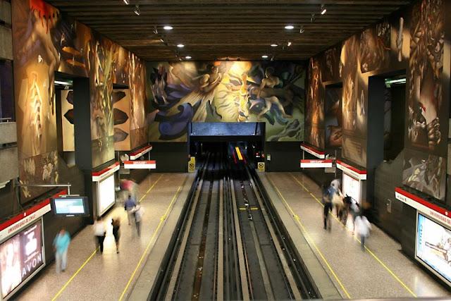 Estrutura do metrô de Santiago