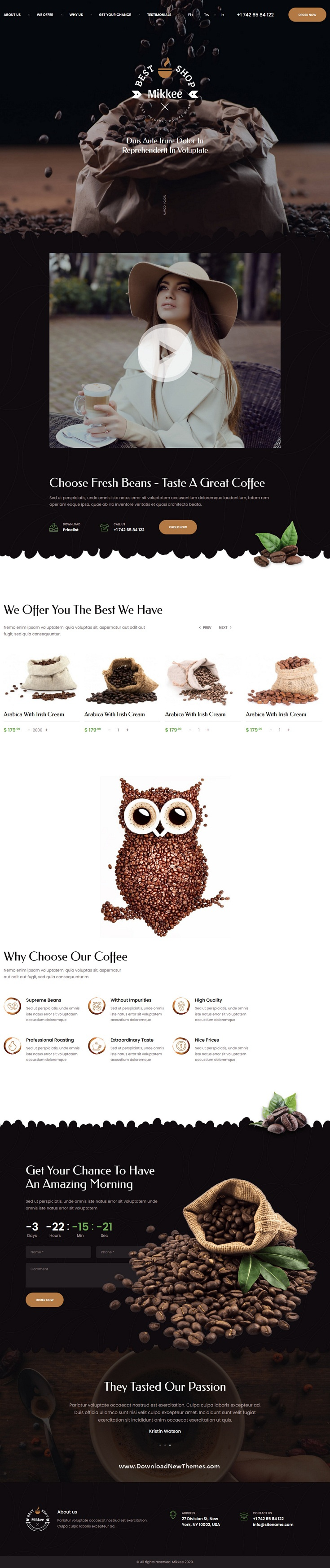 Coffee Landing Page HTML Template