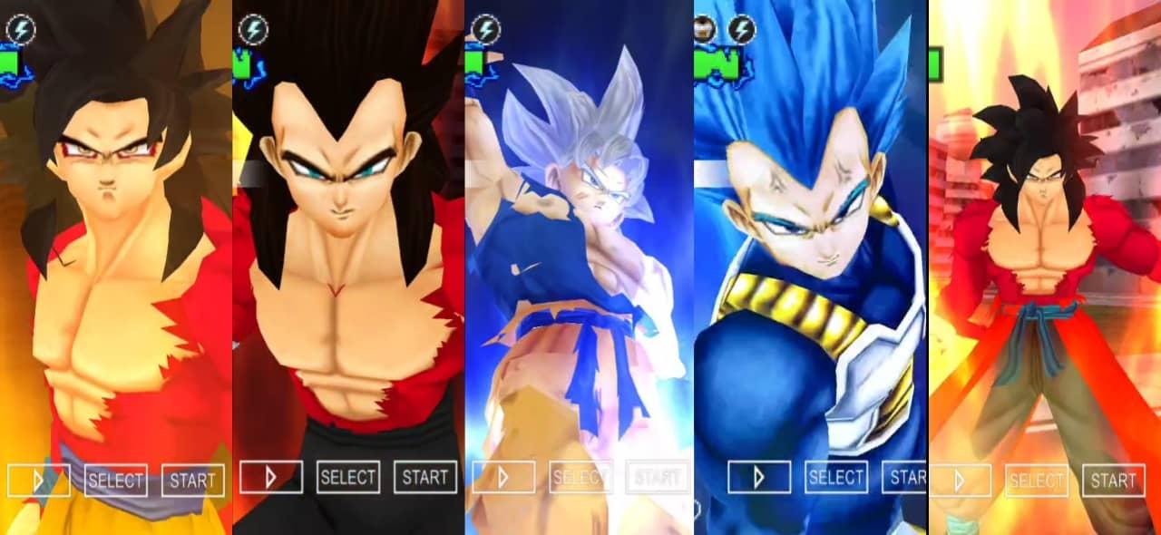 Goku and Vegeta all forms Dragon Ball Super