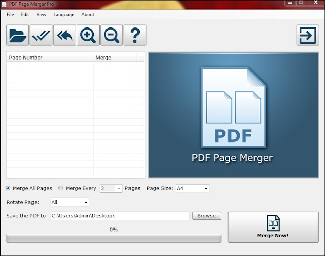PDF Page Merger Tool