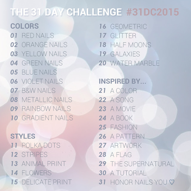 #31DC2015 31 Day Nail art Challenge 2015