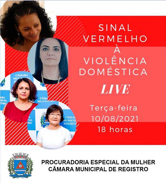 Procuradoria Especial da Mulher promove LIVE para debater a campanha Sinal Vermelho à Violência Doméstica