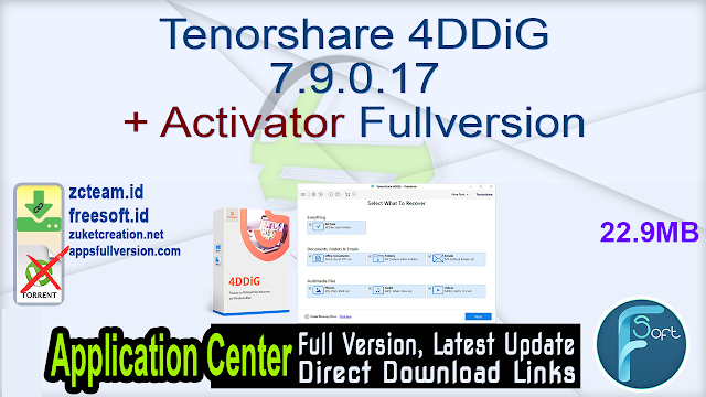 Tenorshare 4DDiG 7.9.0.17 + Activator Fullversion