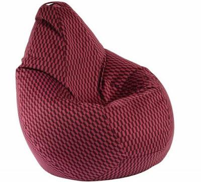 Пуф Pufrelax, круша за деца от 2-10 години, Nirvana Light - Claret, Перящ се текстилен калъф, Пълнеж от Полистиролни перли, Гама Premium