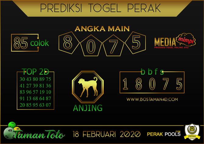 Prediksi Togel PERAK TAMAN TOTO 18 FEBRUARY 2020