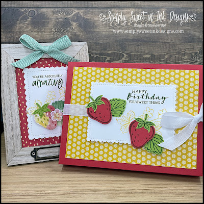 Cute custom size box featuring the Sweet Strawberry bundle!
