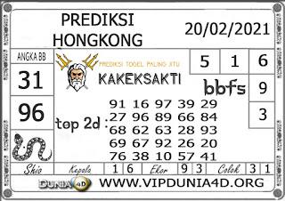 Prediksi Togel HONGKONG DUNIA4D 20 FEBRUARI 2021