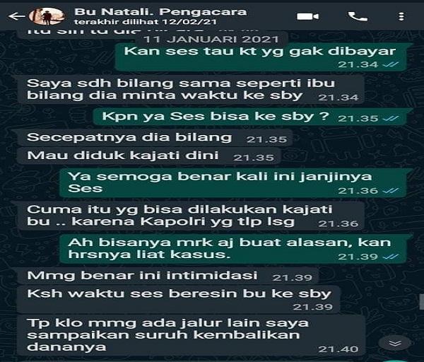 Natali Sebut Kapolri Terlibat Dalam Kasus Christian Halim, LQ Indonesia Lawfirm: Ada Bukti Video dan Screen Capture WA