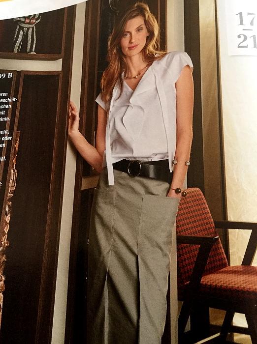 Meine Nähwelt: Eine Volant-Bluse wie ich sie mag...
