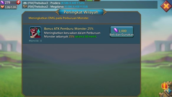 ATK Perburuan Monster Lord Mobile