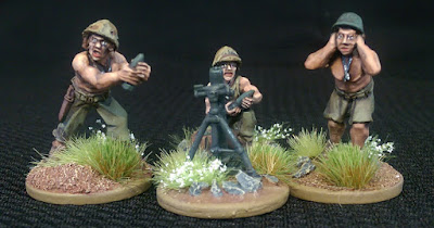 28mm Metail USMC Mortar Squad Warlord Games
