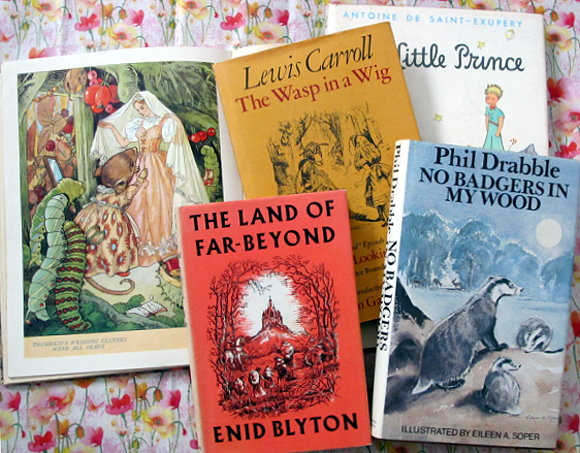 Collection children's vintage books