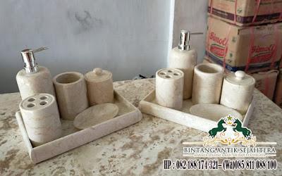 Peralatan Mandi Marmer, Kamar Mandi Set Minimalis, Set Kamar Mandi Marmer