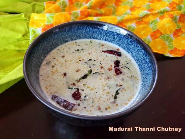 images of  Madurai Thanni Chutney / Madurai Special Thanni Chutney Recipe  / Thanni Chutney / Madurai Chutney / Madurai Coconut Chutney - Chutney Recipes