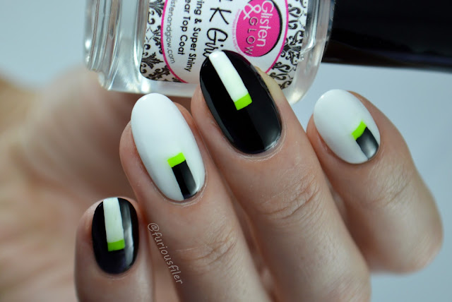 #31dc2016 monochrome b&w elegant edgy nails furious filer