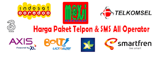 Daftar Harga Paket Telpon & SMS Termurah [PAKET NELPON + SMS]