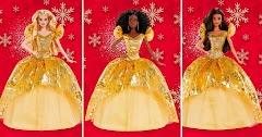 Нарядная кукла Barbie Holiday 2020: рождественская красотка в золотом платье