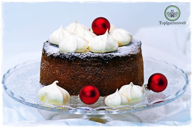 Gartenblog Topfgartenwelt fruchtig in den Heiligen Abend: Rezept Zitronenkuchen mit Baiser Topping - Frohe Weihnachten