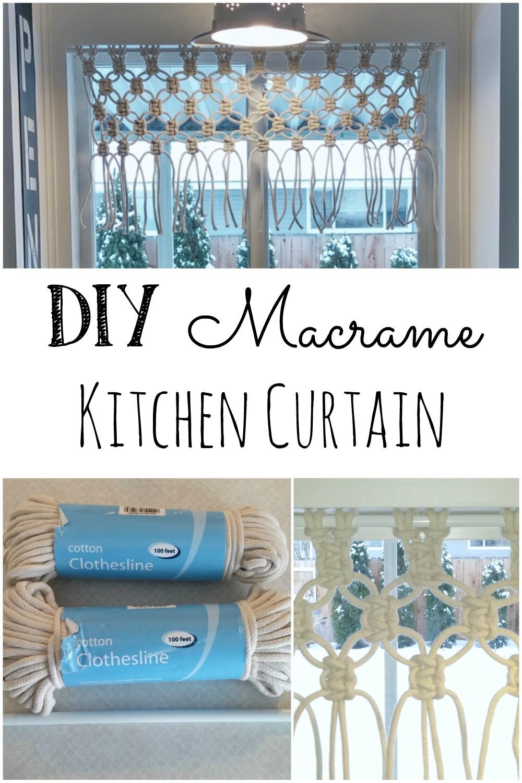 DIY Macrame Kitchen Curtain - Little Vintage Cottage