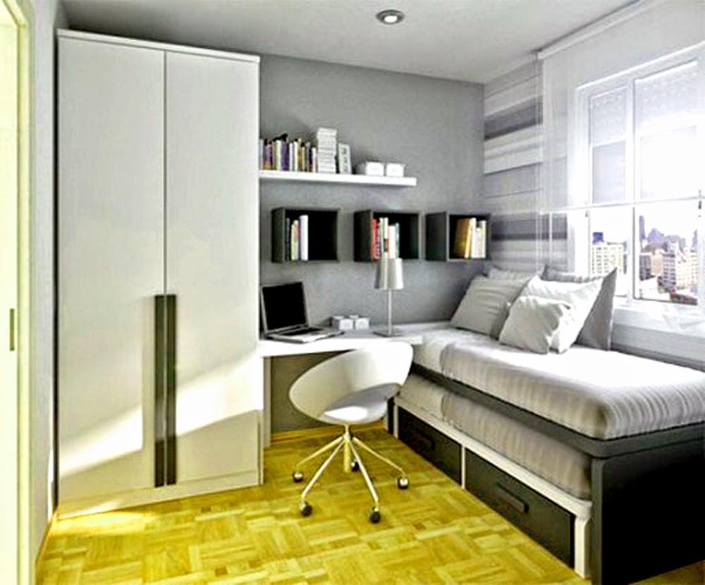 Desain Kamar Tidur Minimalis Ukuran 2x4 Wallpaper Dinding