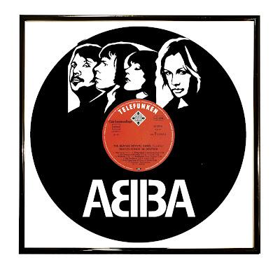Abba Art on Vinyl Portrait