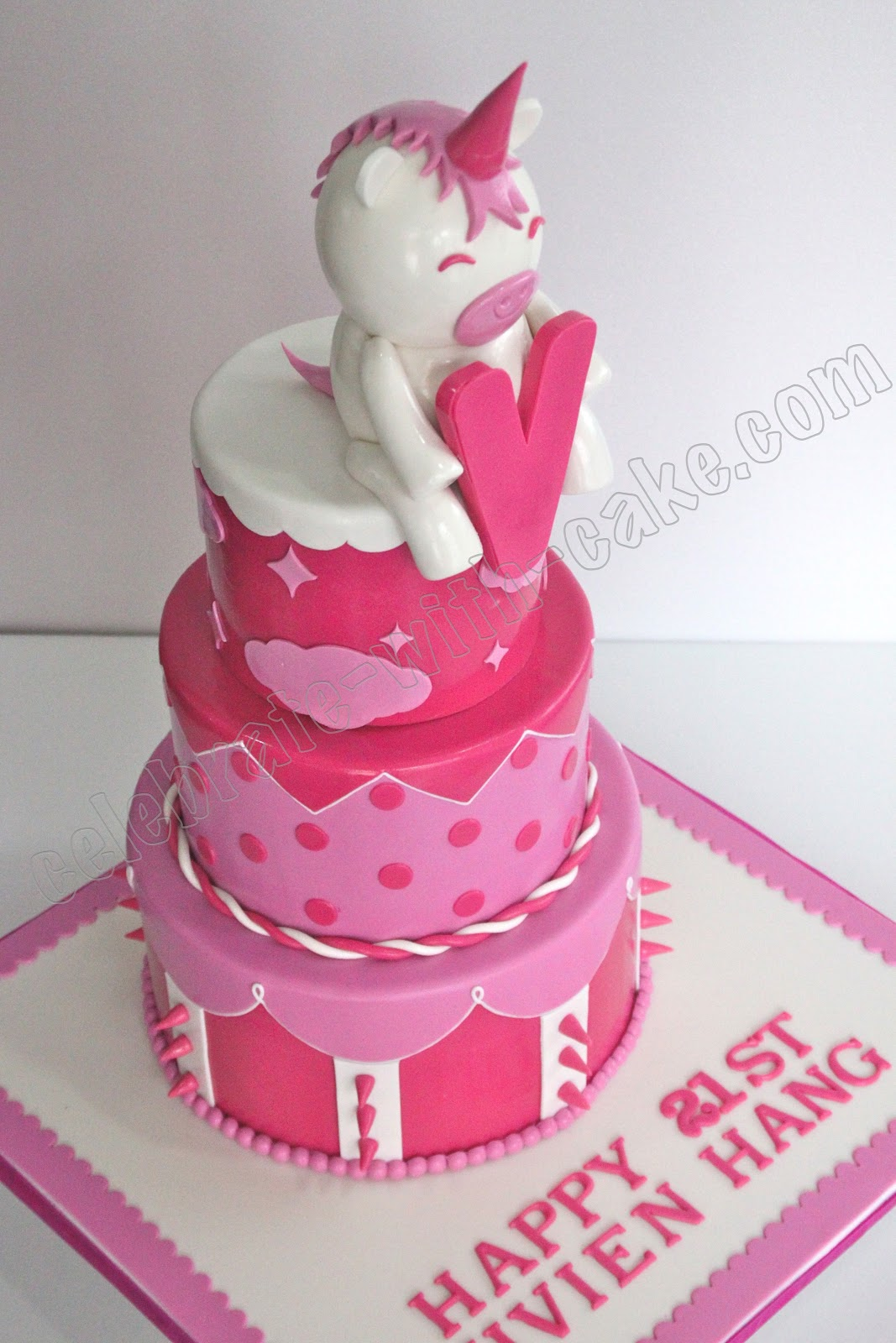 Unicorn 21st Birthday Cake