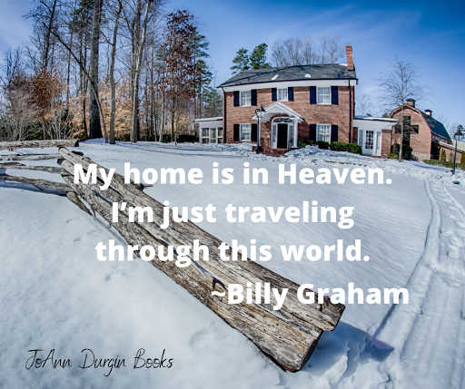 """A meme stating """"My home is in heaven..."""""""