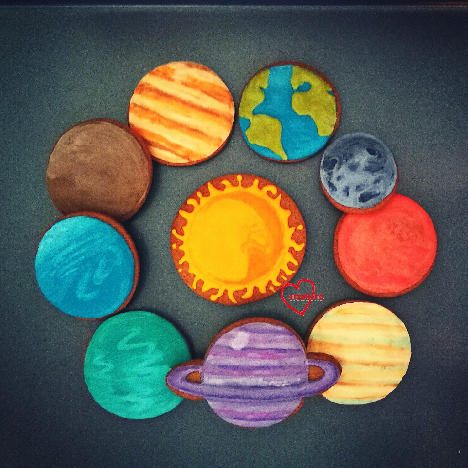 Loving Creations for You Solar System Brown Sugar Cookies