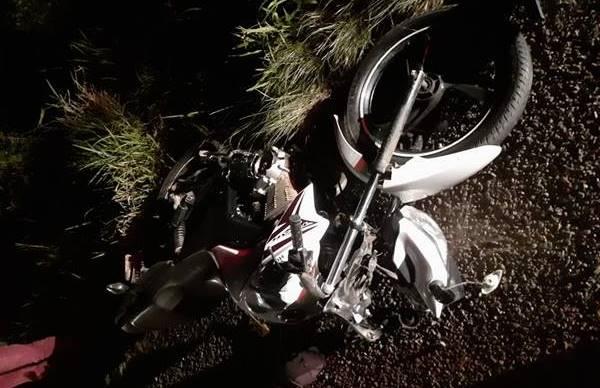 Acidente com moto em Três Barras