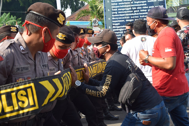 Polres Badung Menerima Tim Penilai Lomba Dalmas, Dalam Rangka Pilkada Serentak