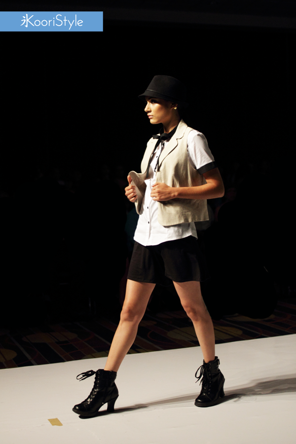 KooriStyle, Fashion, Runway, Dress, FashionDesign, Design, Beige, Black, Boots