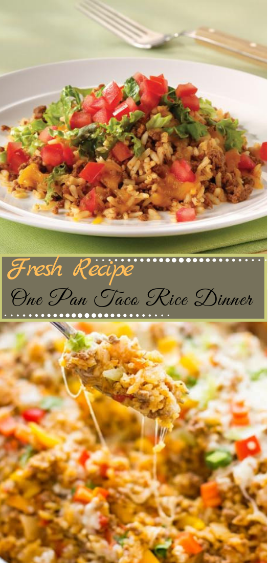 One Pan Taco Rice Dinner #dinnerrecipe #food #amazingrecipe #easyrecipe