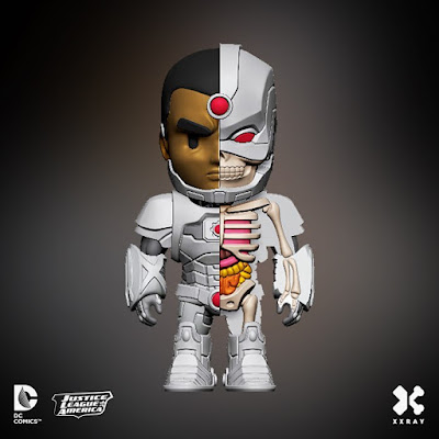 DC Comics XXRAY Dissection Series 2 Vinyl Figures by Jason Freeny & Mighty Jaxx - Cyborg