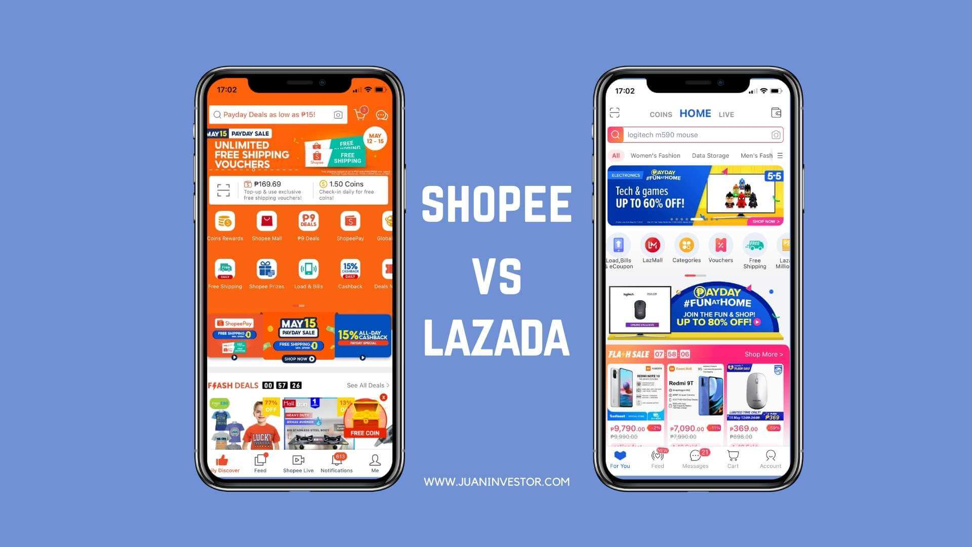 shopee-vs-lazada-user-interface