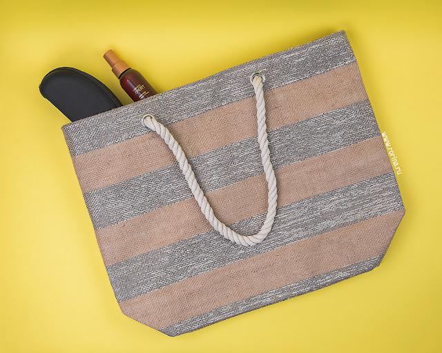 Пляжная сумка Faberlic, цвет серебристо-бежевый (Артикул: 600693): отзывы с фото