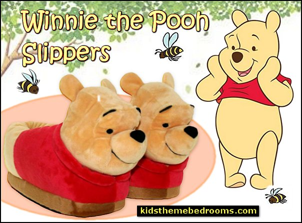 winnie the pooh slippers kids slippers womens slippers mens slippers