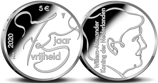 Netherlands 5 & 10 euro 2020 - 75 years of freedom