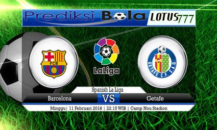 PREDIKSI  SKOR  Barcelona vs Getafe  11 Februari 2018