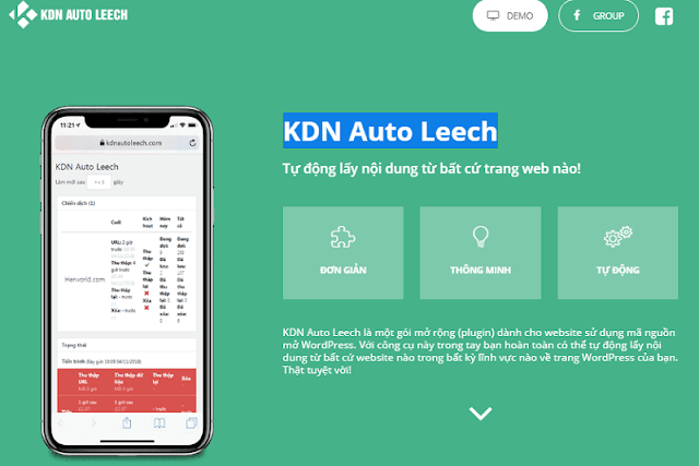 KDN Auto Leech là một plugin do Việt Nam sáng tạo.