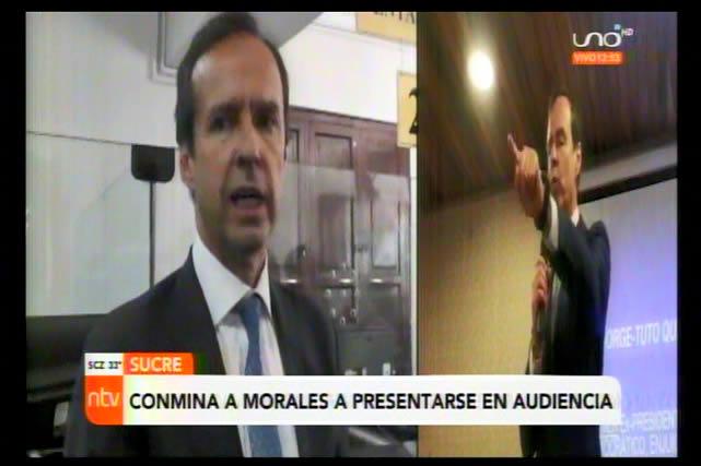"""Tuto a Evo: """"Ya no eres presidente, te desafío cobarde a que vengas a Sucre a sostener tu denuncia"""""""