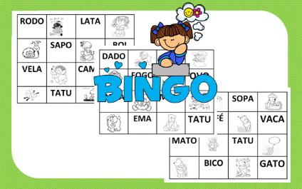 Bingo De Palavras Simples Dani Educar