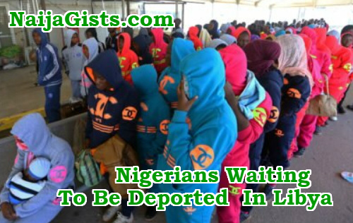 nigerians waiting to be deported in libya