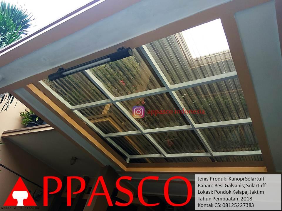 Kanopi Solartuff Transparan di Pondok Kelapa