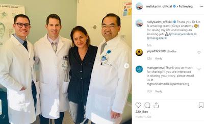 أنقاذ حياة نللي كريم بعد أجراء عملية جراحية - تشكر الأطباء (شكرا أنقذتوا حياتى)