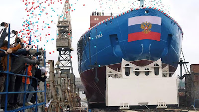 Russia launched the world's largest nuclear powered icebreaker 'Ural'