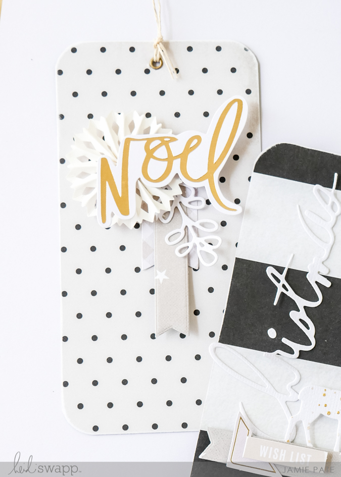 Heidi Swapp Winter Wonderland Paper Line | Tags by Jamie Pate | @jamiepate for @heidiswapp