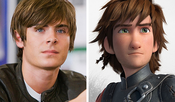 "Thanks to the appearance of Zack Efron, we can admire Icking in the cartoon ""How to Train Your Dragon"""