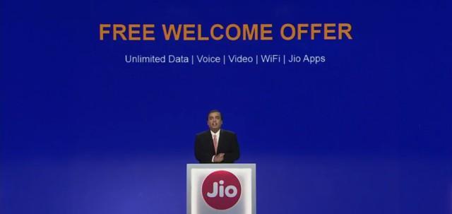 Reliance Jio data plan tariffs