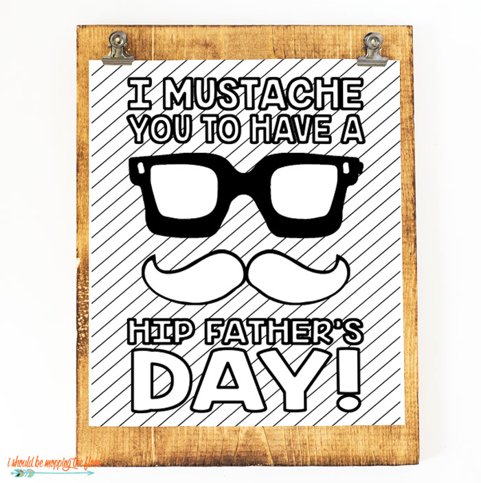 Hipster Father's Day Printable